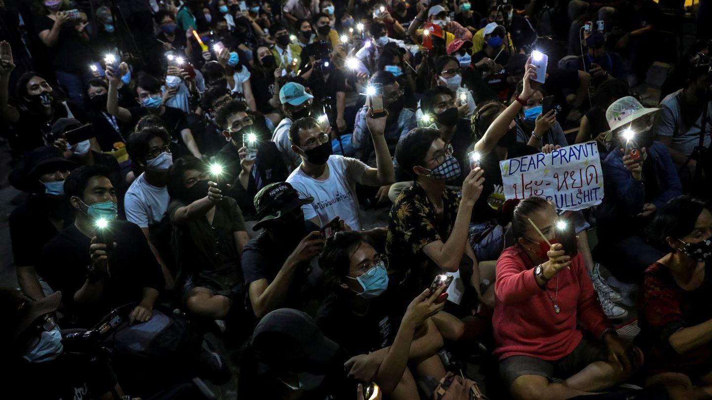 Una de las recientes protestas en Tailandia. (Reuters)