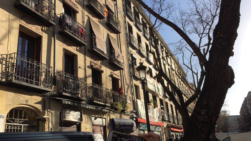 Foto: Edificio que la Policía ha intentado desalojar en Lavapiés (Foto: D. B.)