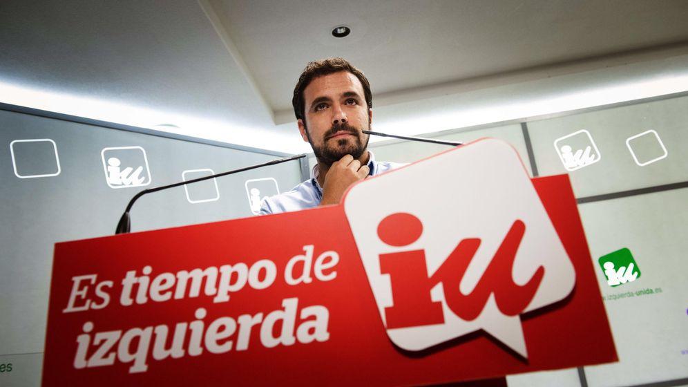 Foto: Alberto Garzón, en la sede de Izquierda Unida el pasado 27 de septiembre, jornada de elecciones en Cataluña. (EFE)