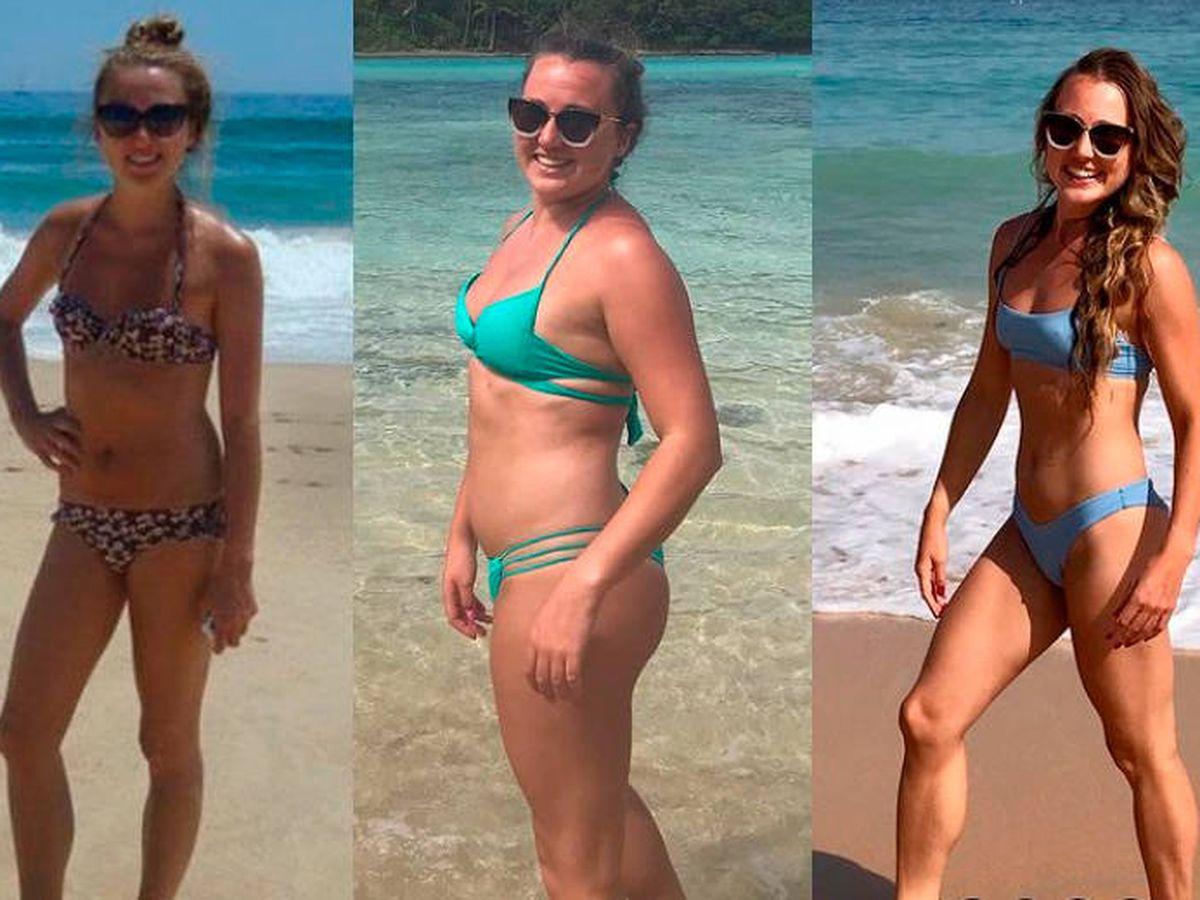 Foto: Rachel Hosie adelgazó 16 kilos y se ha mantenido en su peso ideal (Instagram)