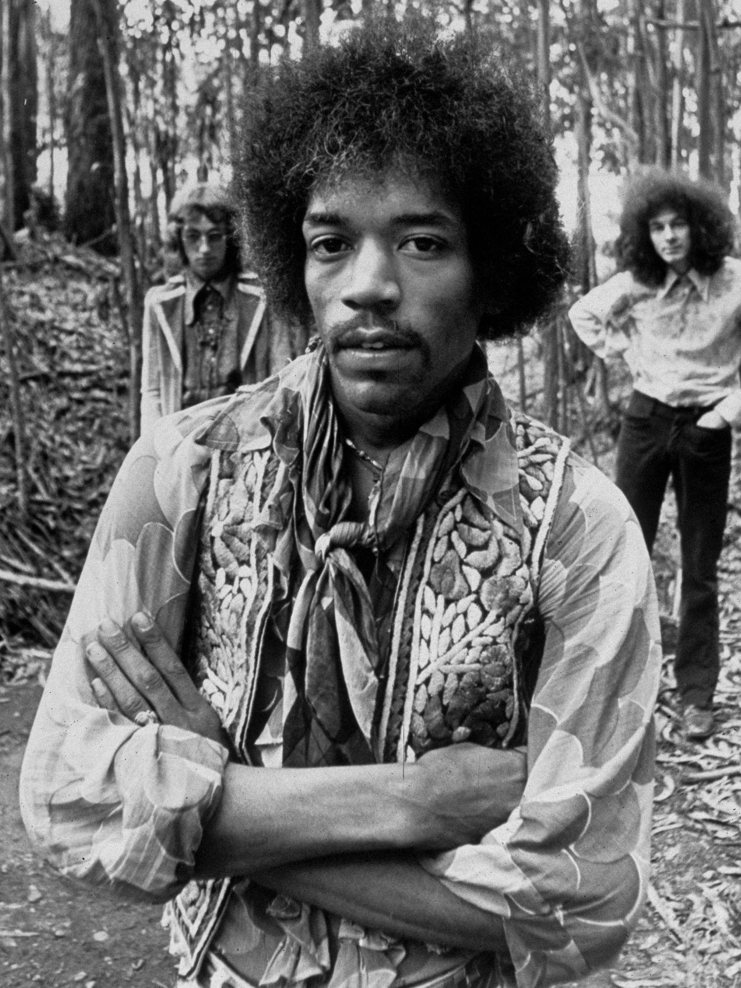 Jimi Hendrix, a finales de los 60. (CP)