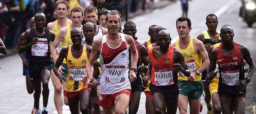 Foto: Steven Way, durante la maratón de los Juegos de la Commonwealth (Foto: Getty Images)