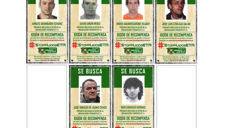 Las víctimas duplican la recompensa para atrapar a los seis terroristas más buscados