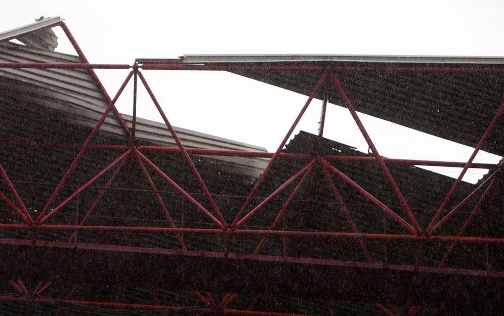 Foto: Imagen de la zona afectada del estadio de Balaídos (EFE)
