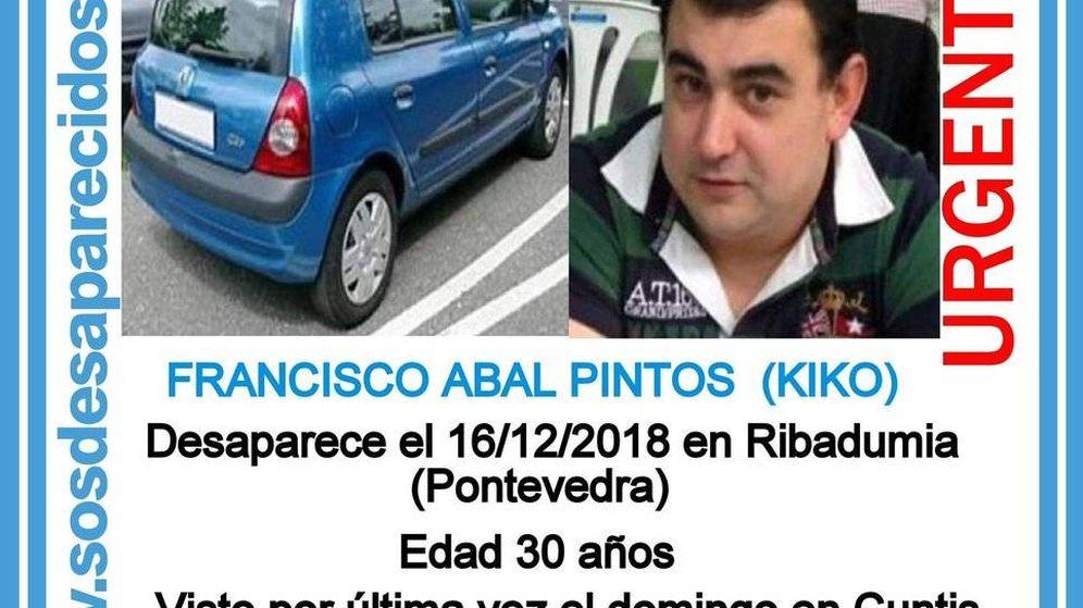 Foto: Francisco Abal Pintos, conocido como Kiko. (SOS Desaparecidos)