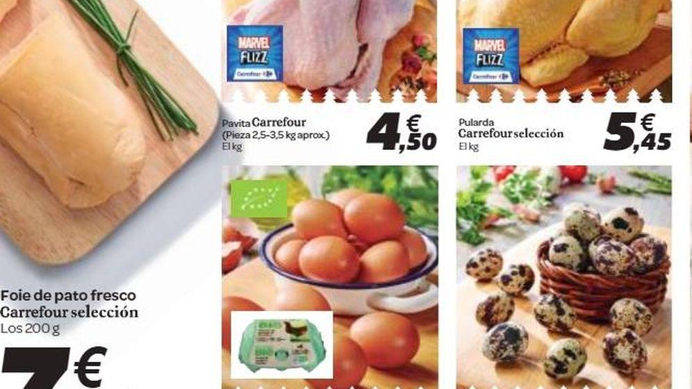 Foto: Folleto promocional de supermercados.