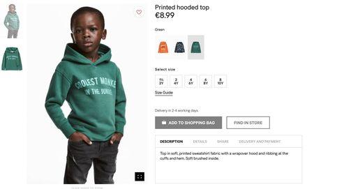 H&M se resigna y elimina la foto de un niño negro con una sudadera tildada de racista