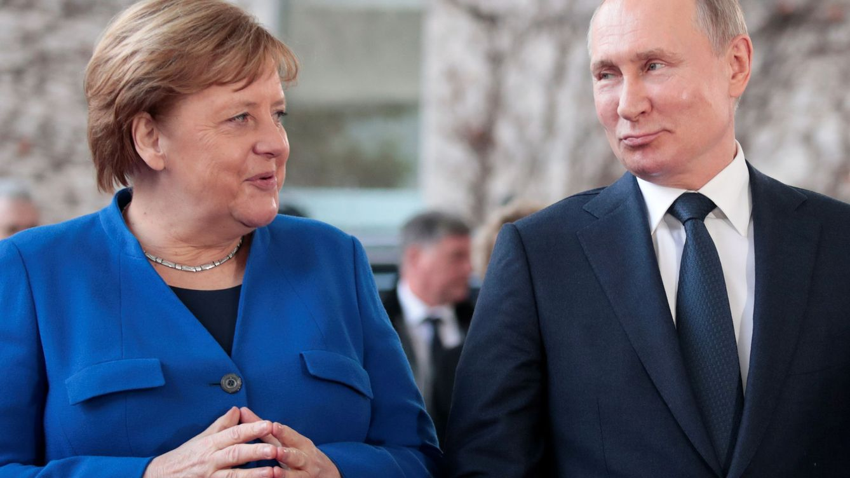 Foto: Angela Merkel y Vladimir Putin, en la reunión en Berlín sobre la situación en Libia. (Reuters)