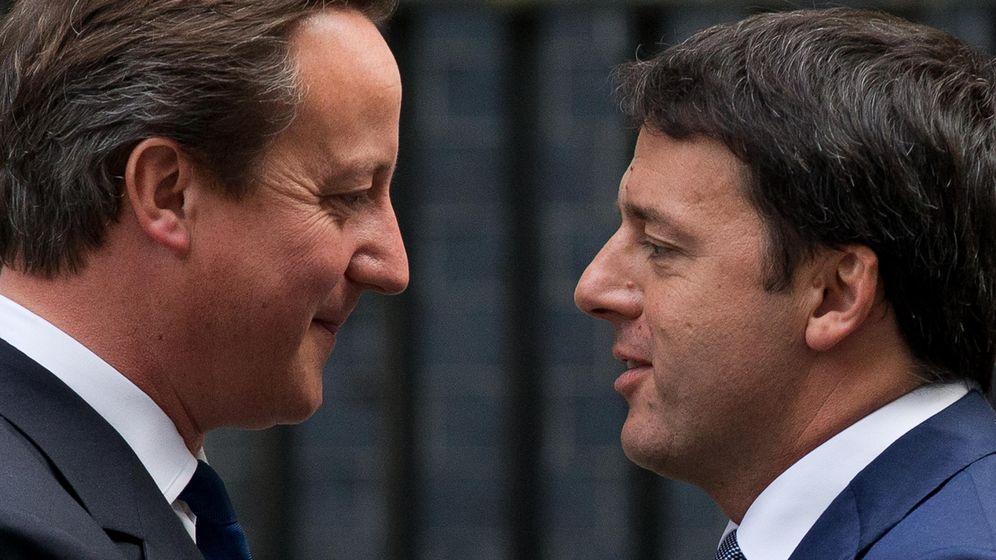 Foto: El ex primer ministro británico David Cameron junto al italiano, Matteo Renzi. (Gtres)