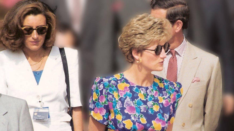 María Teresa Otero y la princesa, en Sevilla. (Cortesía)