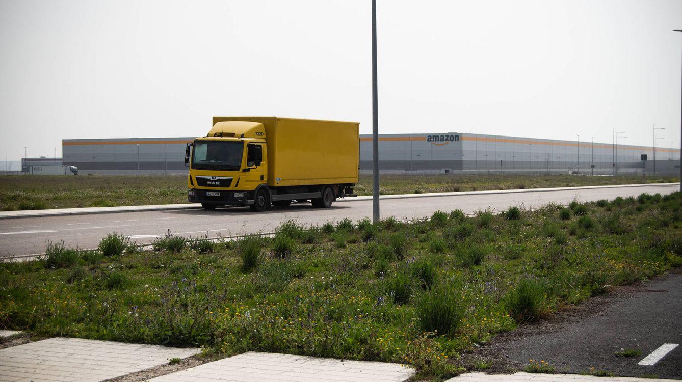 Foto: Centro logístico de Amazon en Illescas, el más grande que la compañía tiene en España. (Carmen Castellón)