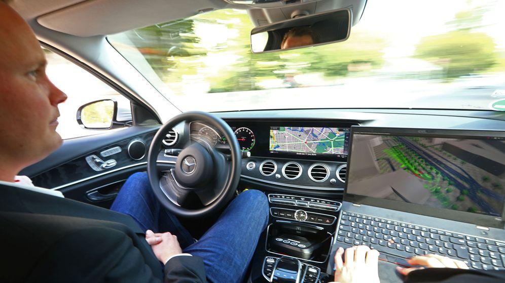 Foto: Test de conducción autónoma realizado en Berlín (Reuters)