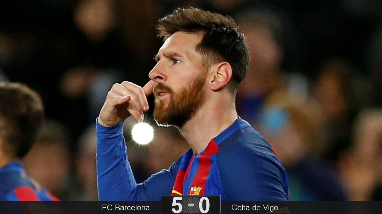 La enésima exhibición de Leo Messi hace del Celta un muñeco de trapo