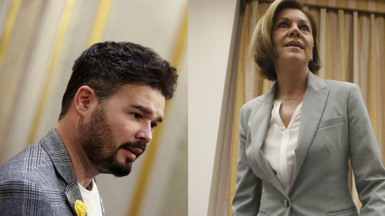Foto: Gabriel Rufián y Dolores de Cospedal