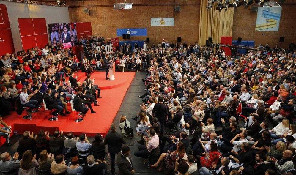 Foto: Pedro Sánchez, durante su intervención tras el comité federal del PSOE de este 10 de noviembre, en el polideportivo El Arroyo de Fuenlabrada. (Inma Mesa | PSOE)