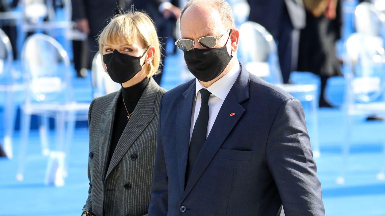 Alberto y Charlène de Mónaco, en noviembre de 2020. (EFE)