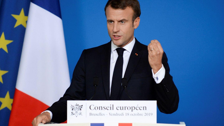 Emmanuel Macron tras el último Consejo Europeo. (Reuters)