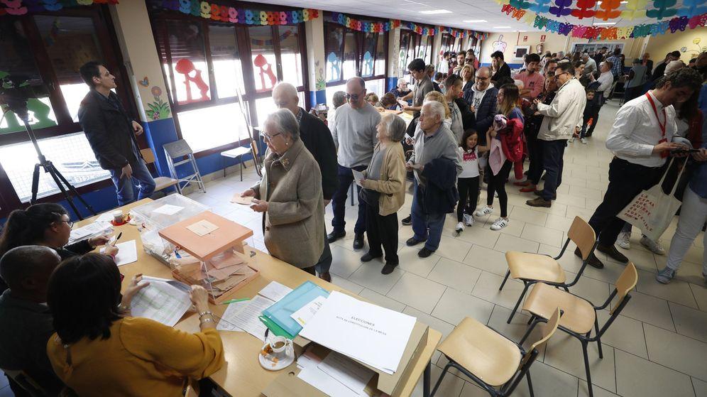 Foto: Uno de los colegios electorales de Madrid.