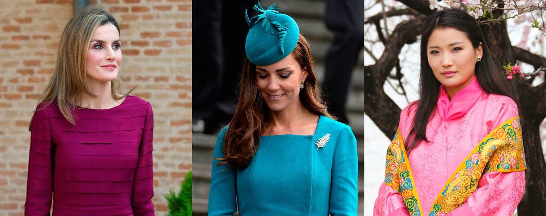 Foto: La Reina Letizia, la duquesa de Cambridge y Jetsun Pema en un fotomontaje de Vanitatis