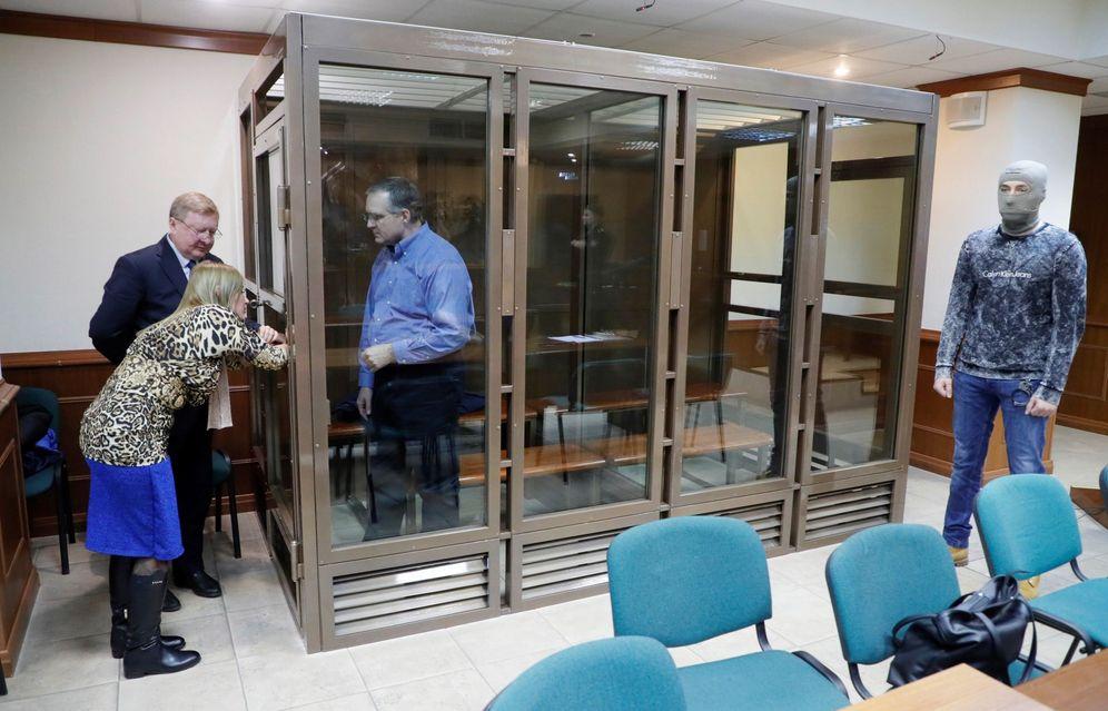 Foto: El presunto espía estadounidense, Paul Whelan, en un tribunal ruso. (EFE)