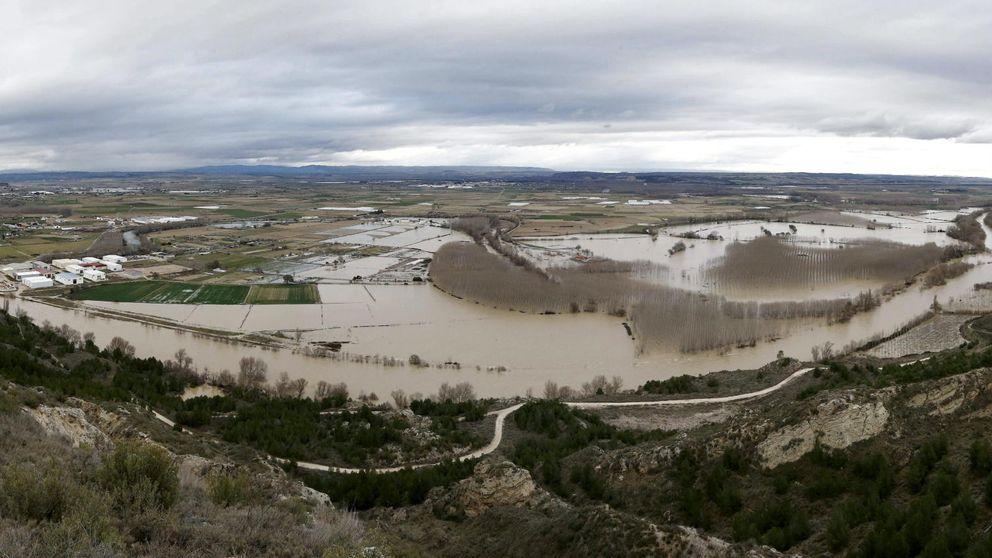 La crecida del Ebro, en imágenes