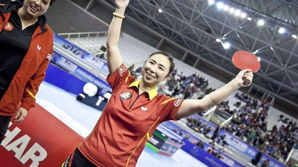 Foto: Yanfei Shen tras ganar el Top 16 Europeo.