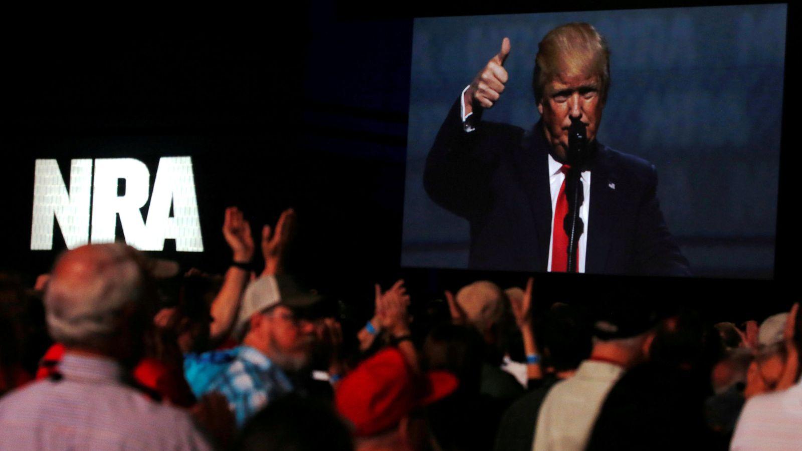 Foto: El presidente de EEUU, Donald Trump, ofrece un discurso ante la Asociación Nacional del Rifle. (Reuters)