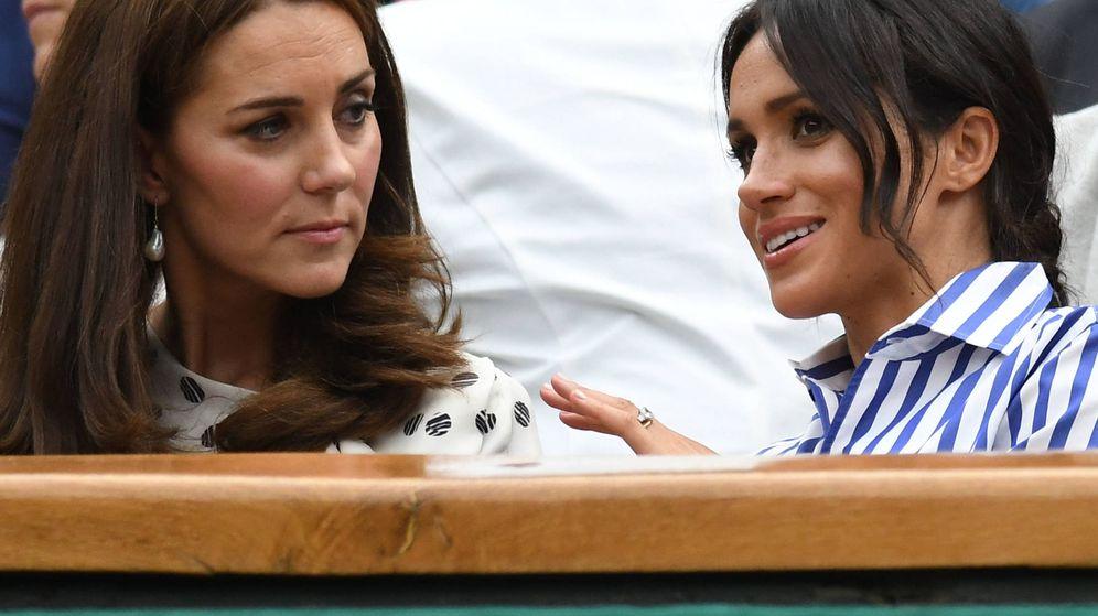 Foto: Meghan y Kate en una foto de archivo del pasado verano. (Getty)