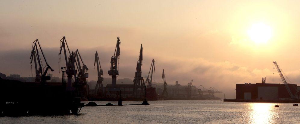 Foto:  Vista de los astilleros de la Naval en Sestao (Vizcaya). (EFE)