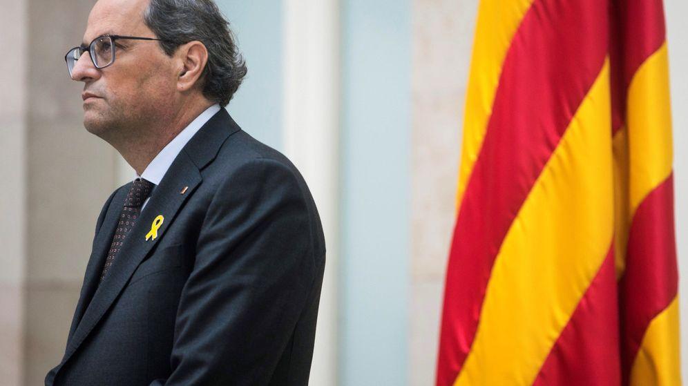Foto: El presidente de la Generalitat de Cataluña, Quim Torra, en una imagen del viernes. (EFE)