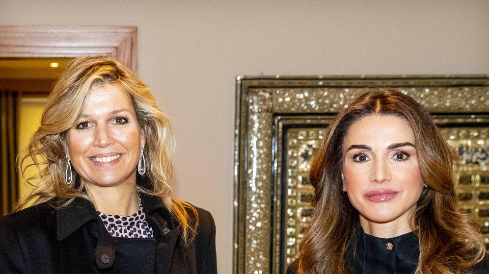 Foto: Máxima y Rania en su encuentro en Amán. (Getty)