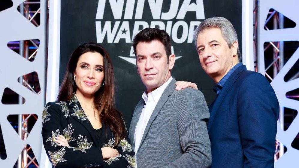 Foto: Los tres presentadores de la versión española de 'Ninja Warrior'.