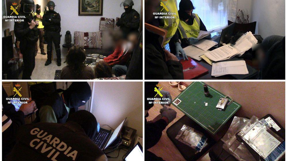 Foto: Operación de la Guardia Civil que ha detenido a tres personas. (EFE)