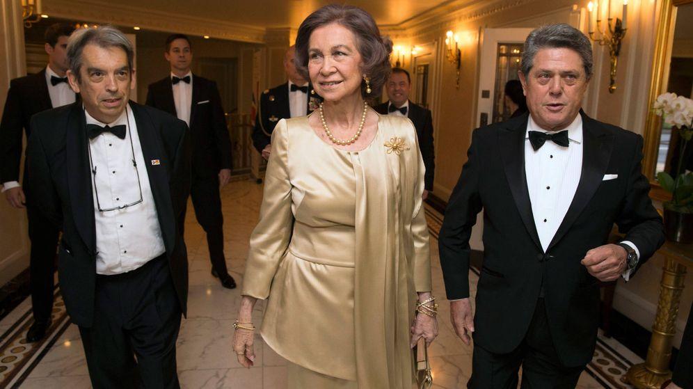 Foto: La reina Sofía, en Londres. (Getty)