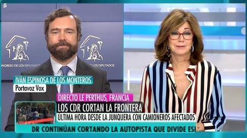 Ana Rosa condena los vetos de Vox a ciertos medios de comunicación