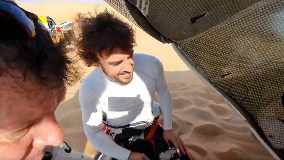 El vacile de Jesús Calleja a Fernando Alonso en el desierto: No sabía que eras mecánico
