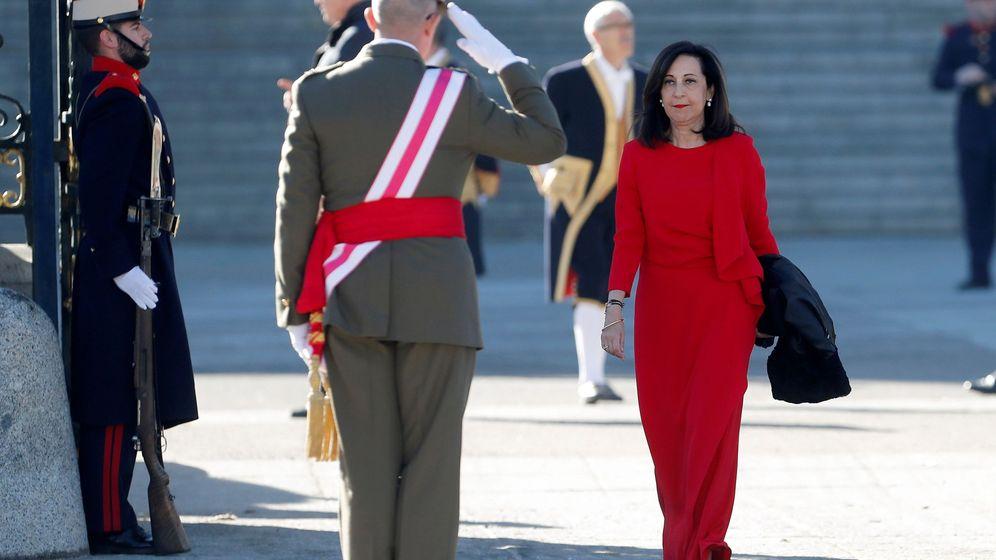 Foto: La ministra de Defensa, Margarita Robles, durante la celebración de la Pascua Militar en el Palacio Real. (EFE)