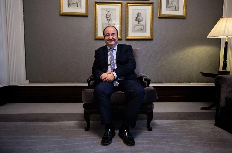 Foto: El candidato del PSC a la Presidencia de la Generalitat de Catalunya, Miquel Iceta. (Daniel Muñoz)