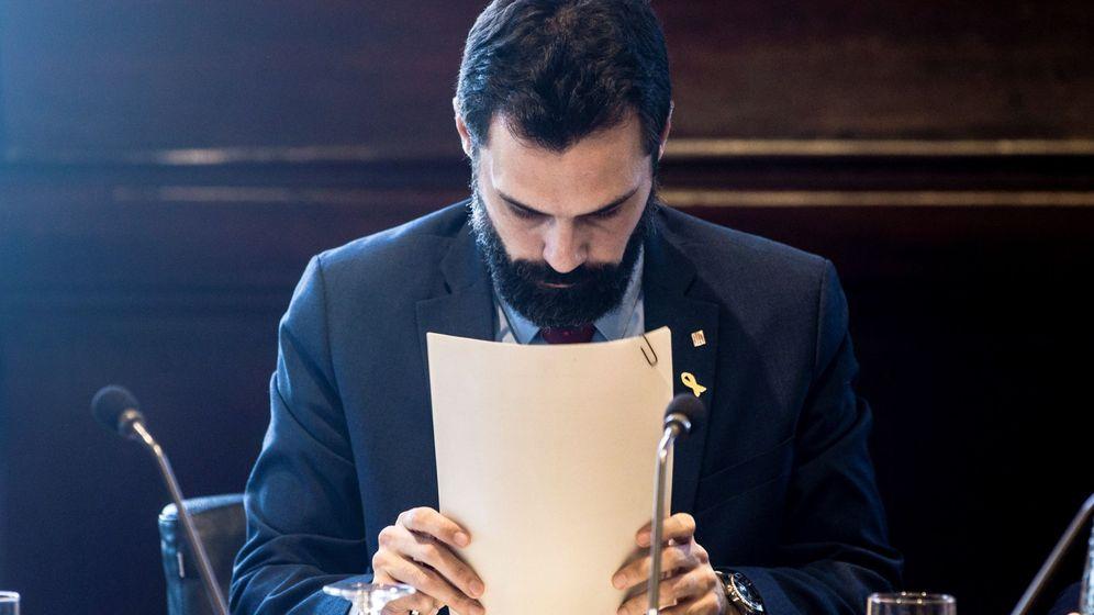 Foto: El presidente del Parlament, Roger Torrent, durante la reunión de la junta de portavoces celebrada este martes. (EFE)