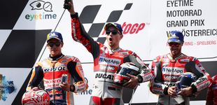 Post de Un Lorenzo desatado se lleva una batalla épica con Márquez en Austria