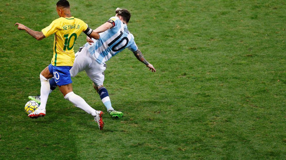 Brasil humilla sin despeinarse a una Argentina que no cuida a Messi