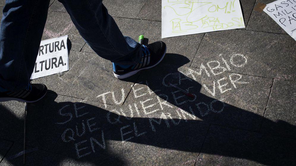 Foto: Pintada en la Puerta del Sol en el cuarto aniversario del movimiento 15M