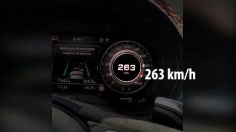 Denuncian a un hombre que conducía a 263 km/hora y lo subió a las redes sociales