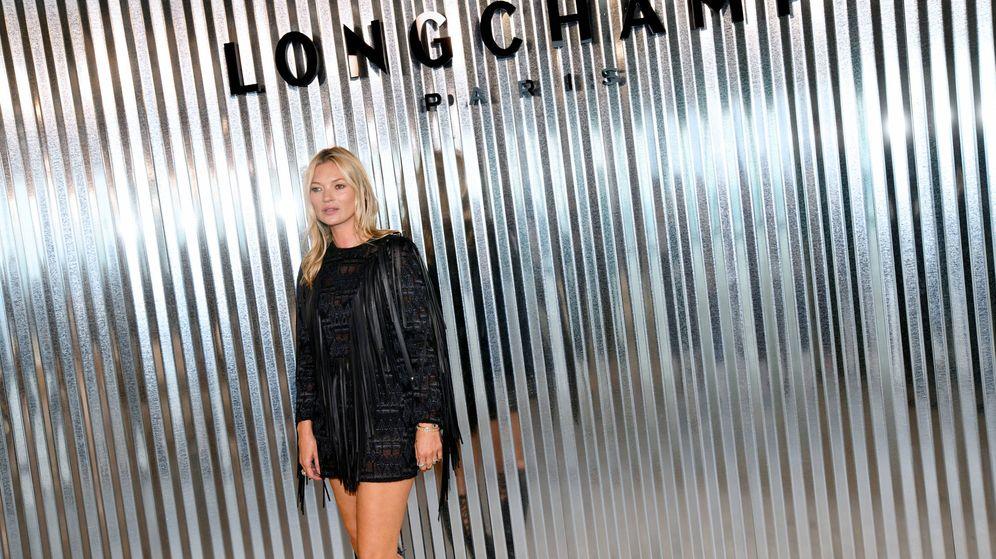 Foto: Kate Moss durante el desfile de la firma Longchamp el pasado septiembre. (Getty)