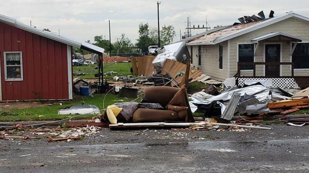 Foto: El rastor que ha dejado uno de los tornados en texas. (Reuters)