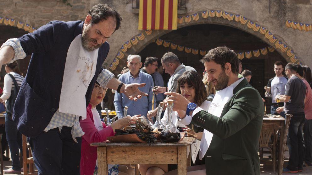 Sardanas, 'castellers' y una 'calçotada': así son las primeras imágenes de 'Ocho apellidos catalanes'