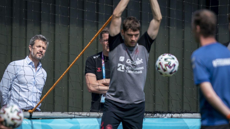Federico, con la selección danesa. (EFE)