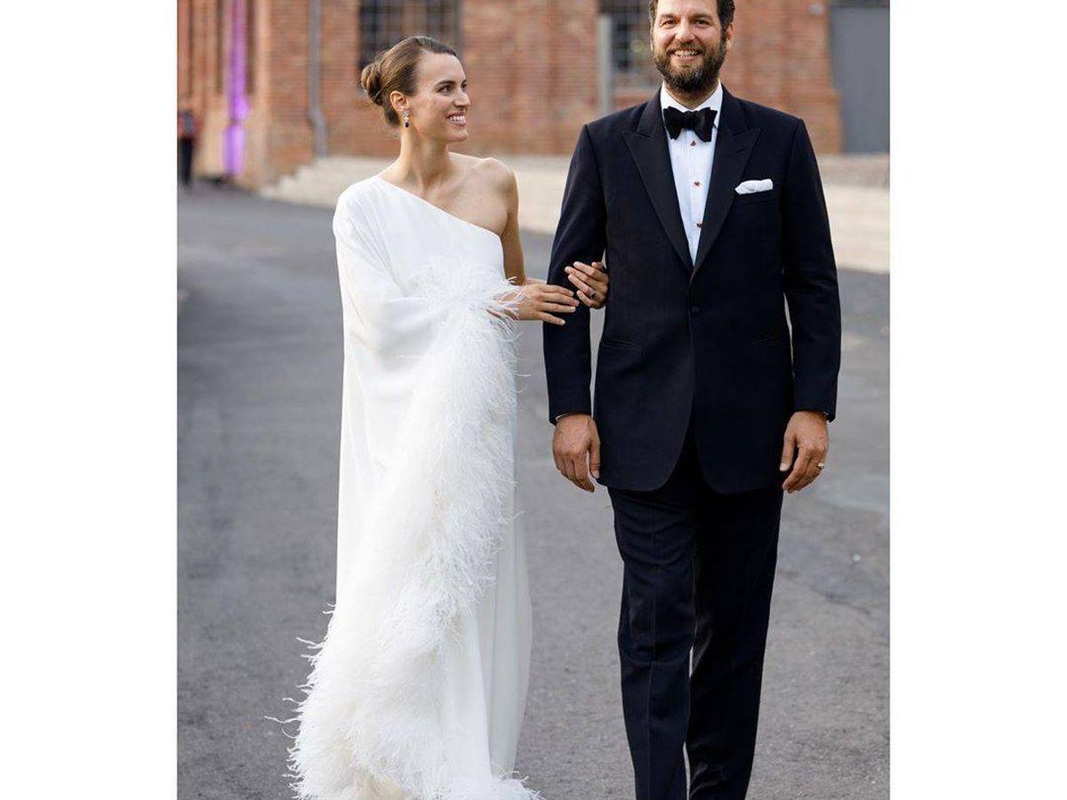 Foto: Alana Bunte y Casimir, el día de su boda. (Instagram: @miss_acb)