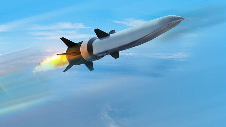 Ilustración del Misil hipersónico CPS (Raytheon)