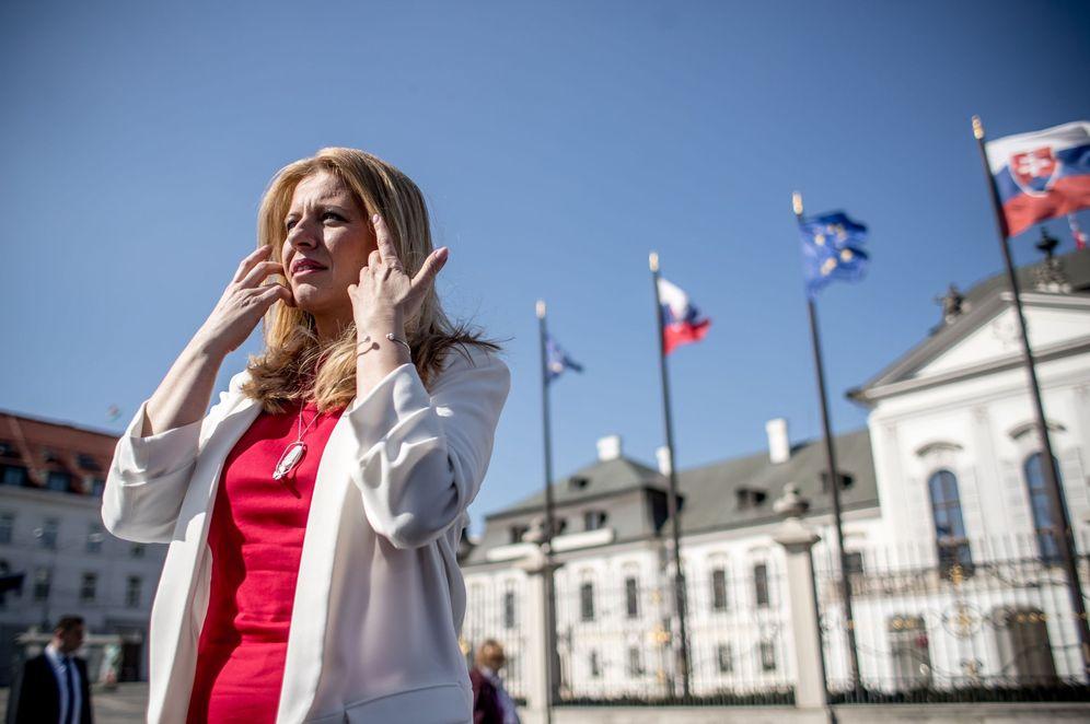 Foto: Zuzana Caputova poco antes de un debate con otros candidatos a las presidenciales de Eslovaquia. (Reuters)